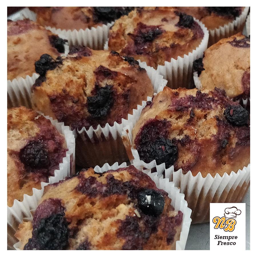 Muffins de avena y Blueberries